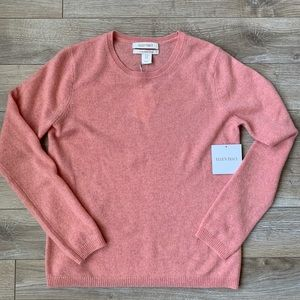 Ellen Tracy 100% Cashmere Sweater Pink NWT